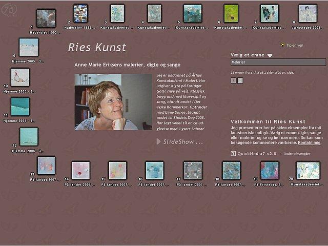 7d Showcase - RiesKunst.dk